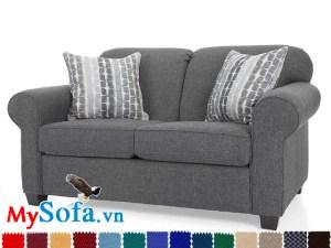 MyS 0619088 thuộc dòng sản phẩm ghế sofa vải nỉ dạng văng có thiết kế nhỏ gọn