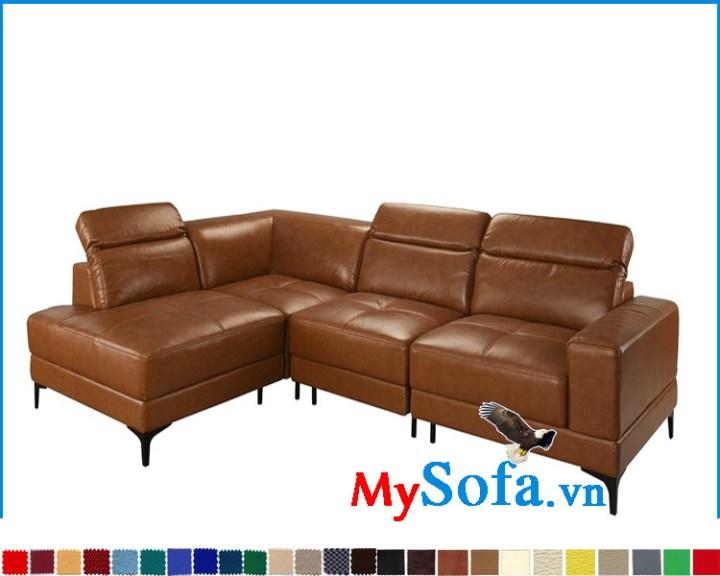 Sofa da bò đẹp sang trọng kiểu góc chữ L