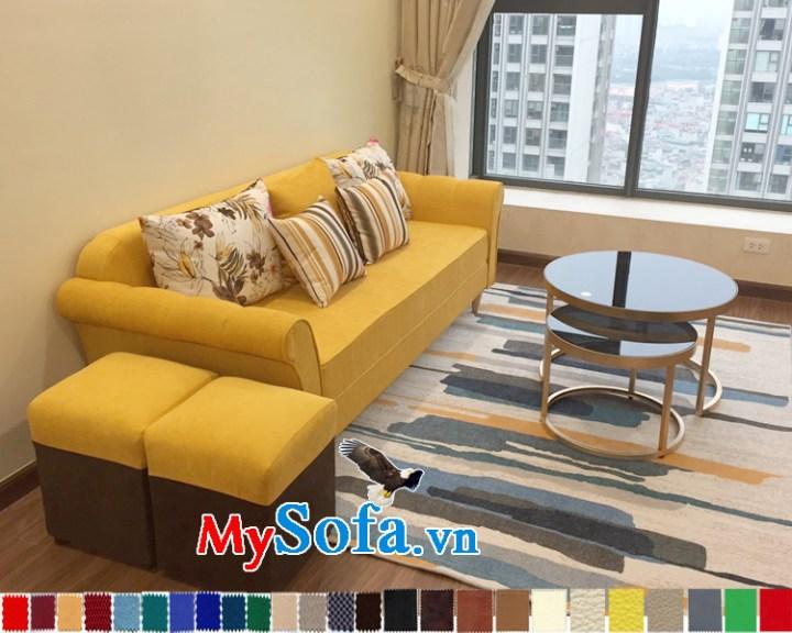 Hình ảnh phòng khách chung cư đẹp với sofa văng