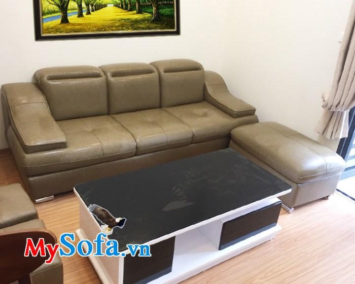 Mẫu ghế sofa nhỏ mini đẹp bọc chất liệu da