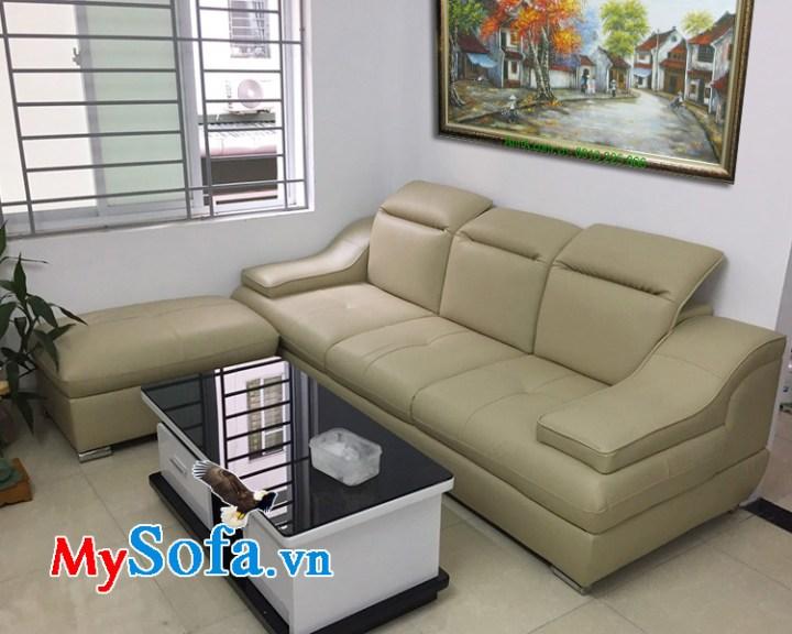Ghế sofa văng da cho phòng khách nhỏ hẹp