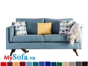 MyS 0619077 là mẫu ghế sofa dạng văng 2 chỗ ngồi có màu sắc tươi sáng, trẻ trung