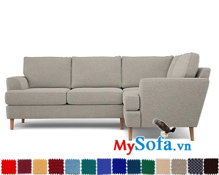 Ghế sofa nỉ dạng góc đẹp thiết kế hiện đại và sang trọng