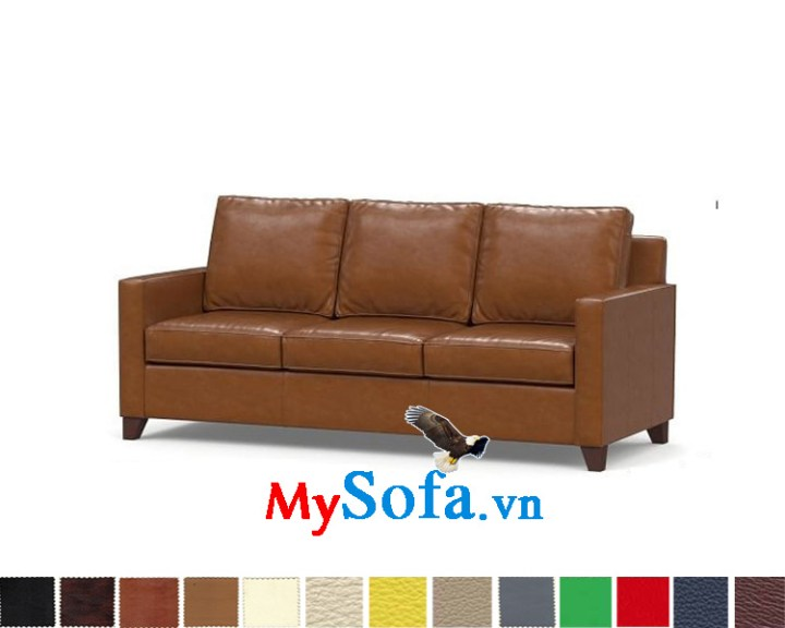 Ghế sofa da văng 3 chỗ hiện đại và sang trọng