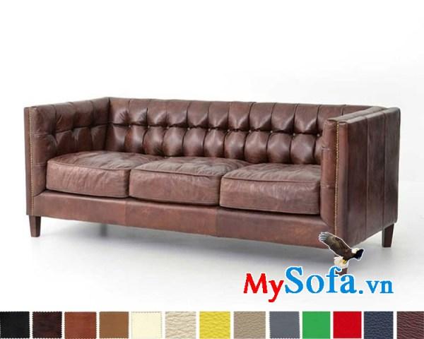 Ghế sofa da dạng văng thiết kế tân cổ điển đẹp