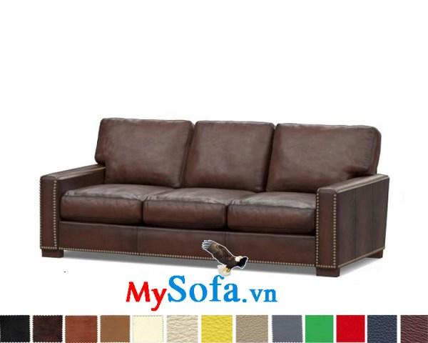 Ghế sofa da kiểu văng 3 chỗ đẹp cho phòng khách sang trọng