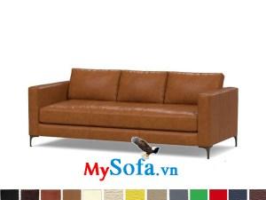 Ghế sofa da sang trọng cho phòng khách nhà chung cư