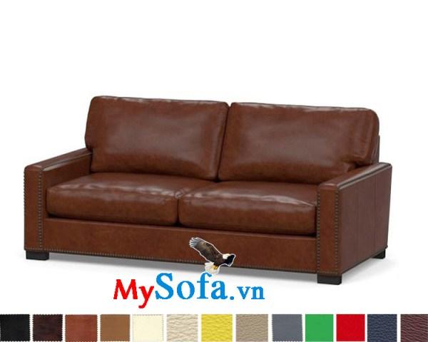 Ghế sofa da văng đẹp cho phòng khách sang trọng