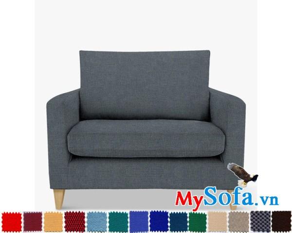 Ghế sofa nỉ kiểu văng đơn đẹp cho phòng khách hiện đại