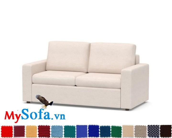 Ghế sofa nỉ dạng văng 2 chỗ cực sang trọng