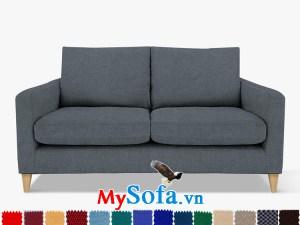 Ghế sofa nỉ dạng văng đẹp cho phòng khách hiện đại