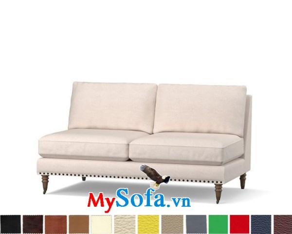 Ghế sofa nỉ dạng văng đẹp thiết kế hiện đại