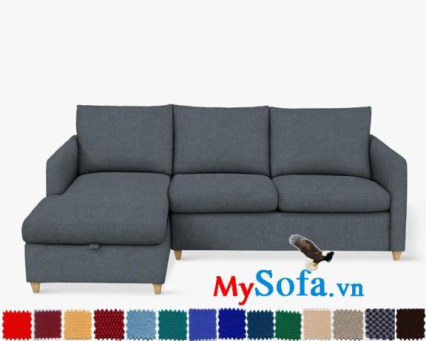 Ghế sofa nỉ dạng góc chữ L đẹp hiện đại