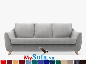 Ghế sofa nỉ kiểu văng 3 chỗ hiện đại và sang trọng