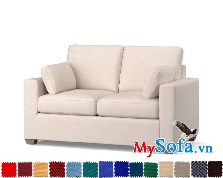 Ghế sofa nỉ văng 2 chỗ cực hiện đại