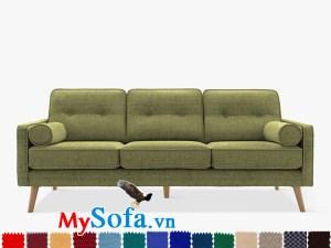 Ghế sofa nỉ dạng văng 3 chỗ hiện đại và trẻ trung