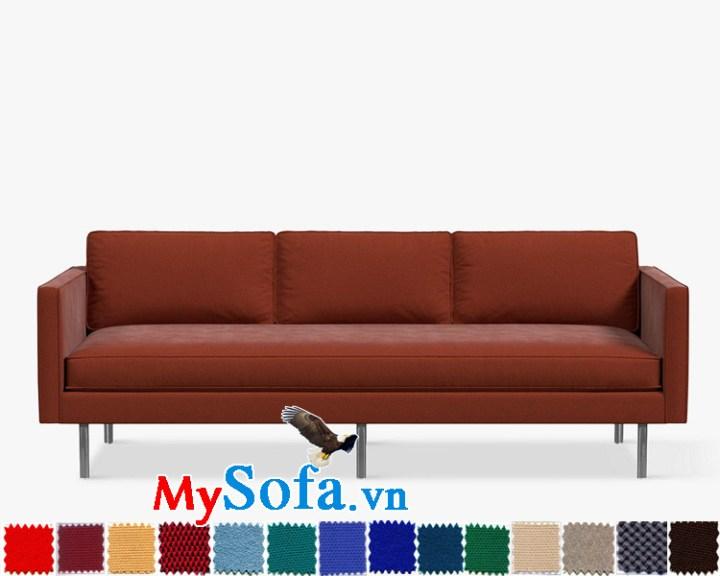 Ghế sofa văng đẹp màu đỏ sang trọng và quý phái