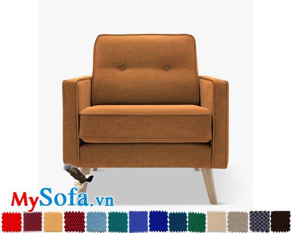 Ghế sofa văng đơn chất nỉ đẹp cho phòng khách