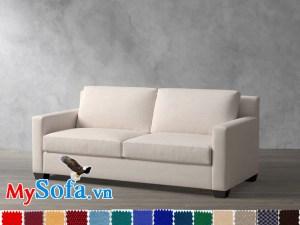 Ghế sofa văng nỉ đẹp thiết kế hiện đại