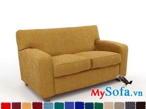 sofa 2 chỗ ngồi mys 0619305 với màu vải bố cực trẻ trung
