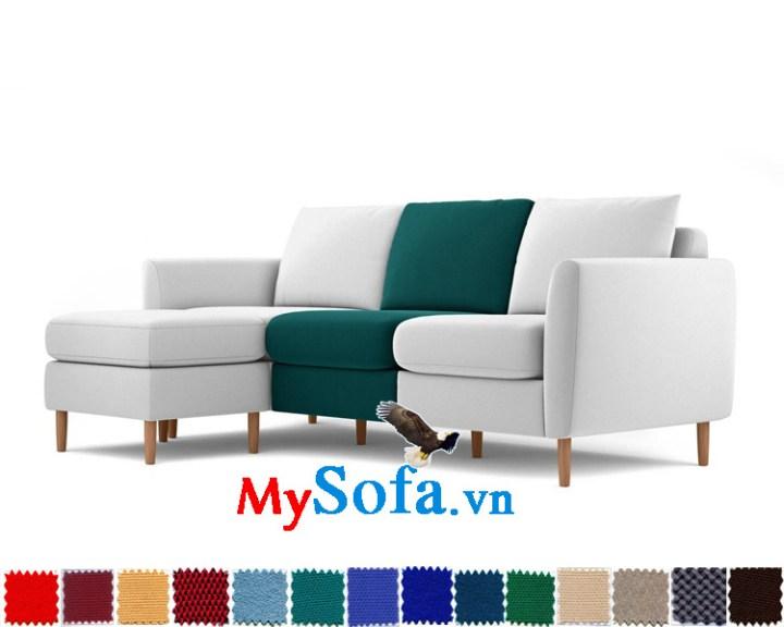 mẫu sofa góc thiết kế độc đáo MyS 0619202 khéo léo khi với sự pha trộn màu sắc tinh tế