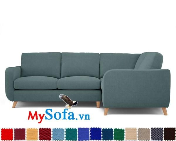 sofa góc tiện lợi cho phòng khách hiện đại mys 0619210 sở hữu màu vải trang nhã