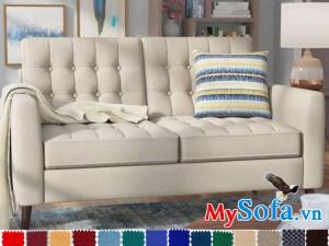 sofa văng 2 chỗ ngồi êm ái cực sạng trọng mys 0619243 với điểm nhấn là đường may rút khuy bắt mắt