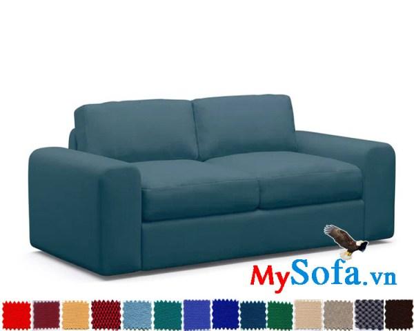 mẫu sofa bọc vải cực êm ái MyS 0619332 màu xanh lam thanh lịch