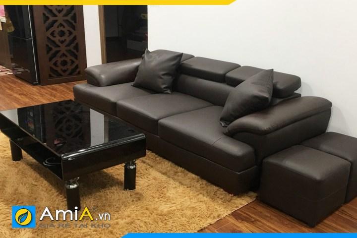 Hình ảnh mẫu sofa văng da đẹp AmiA SFD257