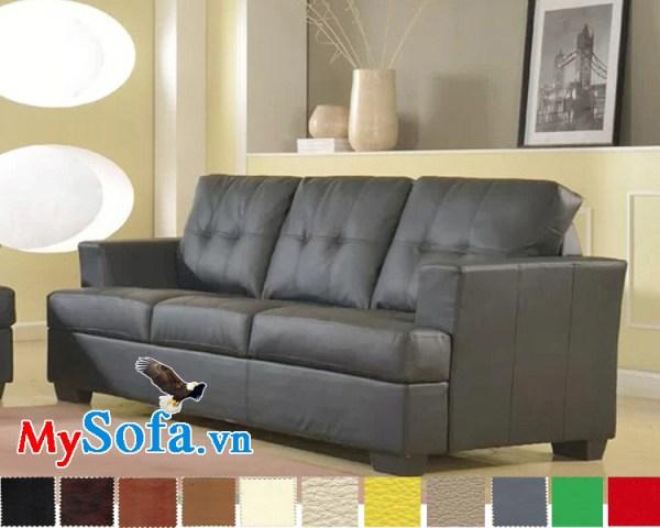 mẫu sofa văng da 2 chỗ ngồi thoải mái mys 0619206