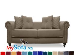 sofa văng kiểu dáng tân cổ điển mys 0619327 cho phòng khách đẹp