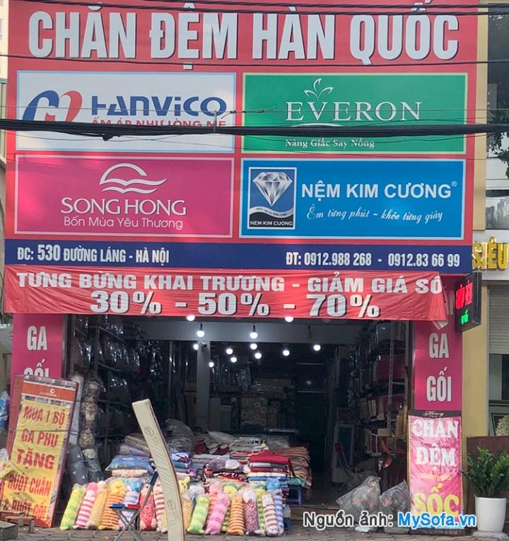 cửa hàng chăn đệm Hàn Quốc 530 đường Láng
