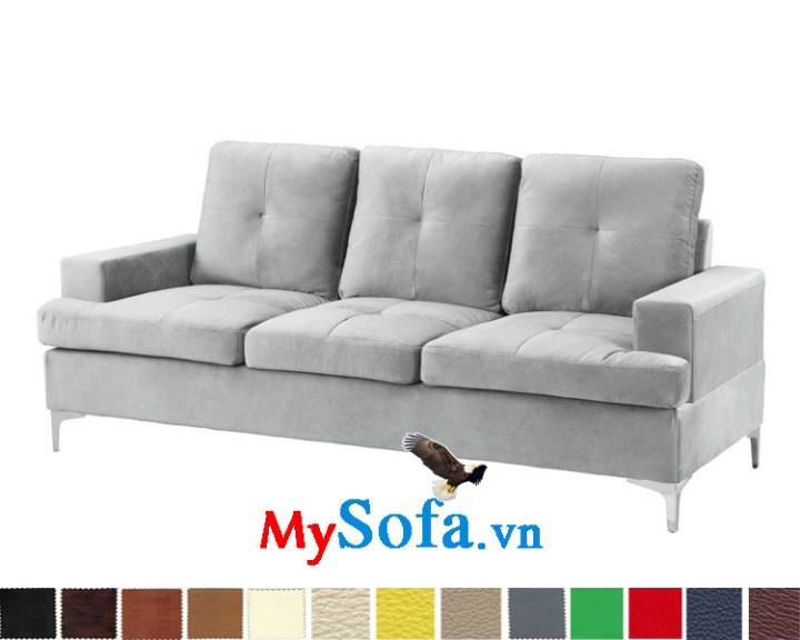Ghế sofa văng nỉ màu ghi sáng đẹp