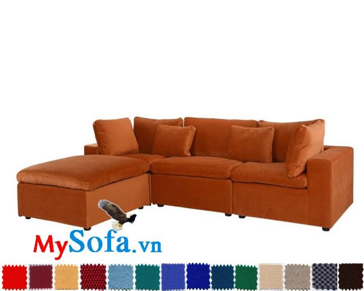 Mẫu ghế sofa nỉ góc chữ L MyS-1910780