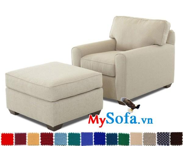 sofa đơn phòng ngủ màu trắng sữa đẹp MyS-1910826