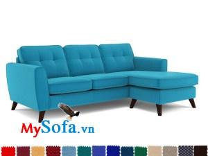 sofa nỉ dạng góc chữ L với chân gỗ cao MyS-1910888