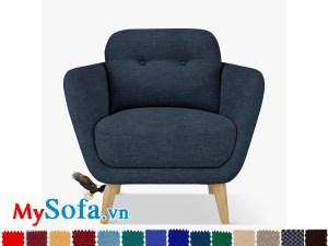 ghế đơn chân gỗ xanh navy đậm MyS- 1911503
