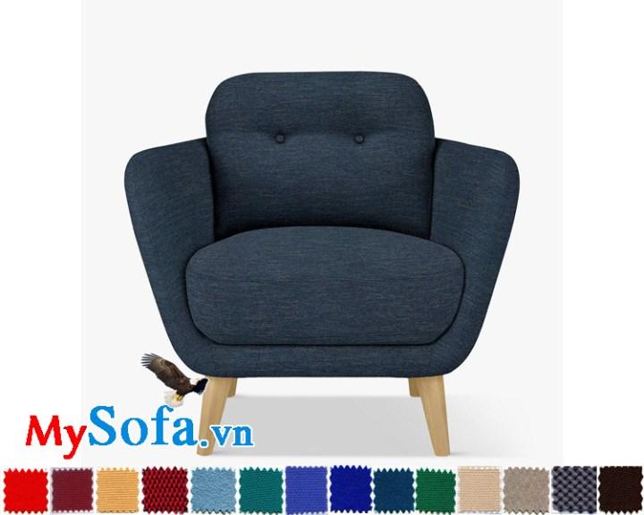 ghế đơn chân gỗ xanh navy đậm MyS-1911503