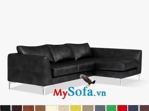 Bộ sofa góc chữ L da màu đen sang trọng MyS-1911513