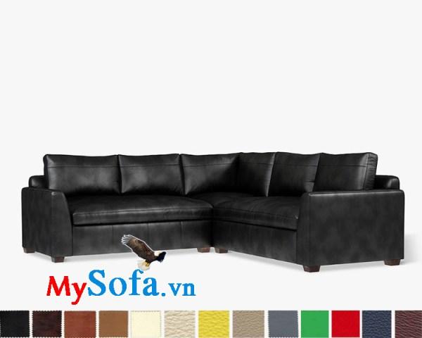 Hình ảnh mẫu sofa góc chữ L màu đen MyS-1911543