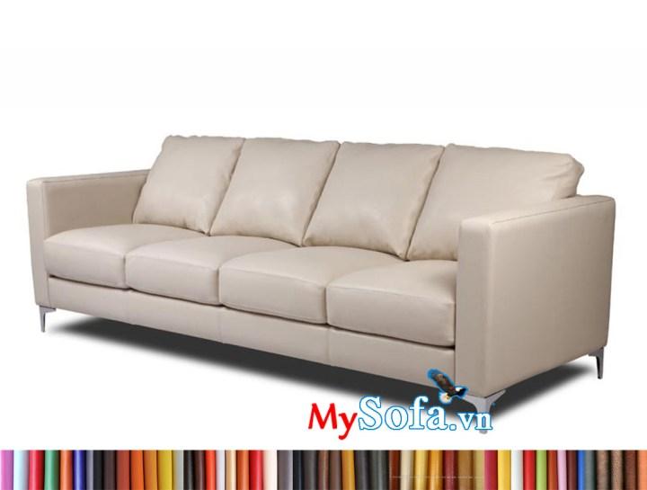 Mẫu ghế sofa văng dài 2m - 2m2 đẹp giá rẻ, dạng văng 4 chỗ ngồi