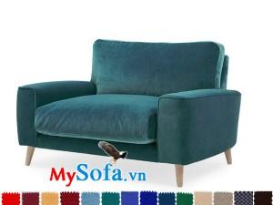 Ghế sofa đơn nỉ màu xanh MyS-1911943