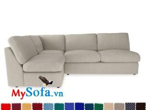 Ghế sofa góc nỉ không tay vịn MyS-1911946