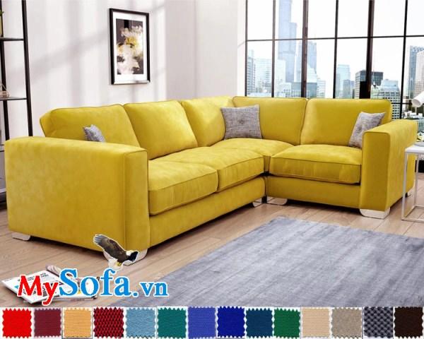 sofa góc chữ L màu vàng chanh tươi sáng MyS-1911592