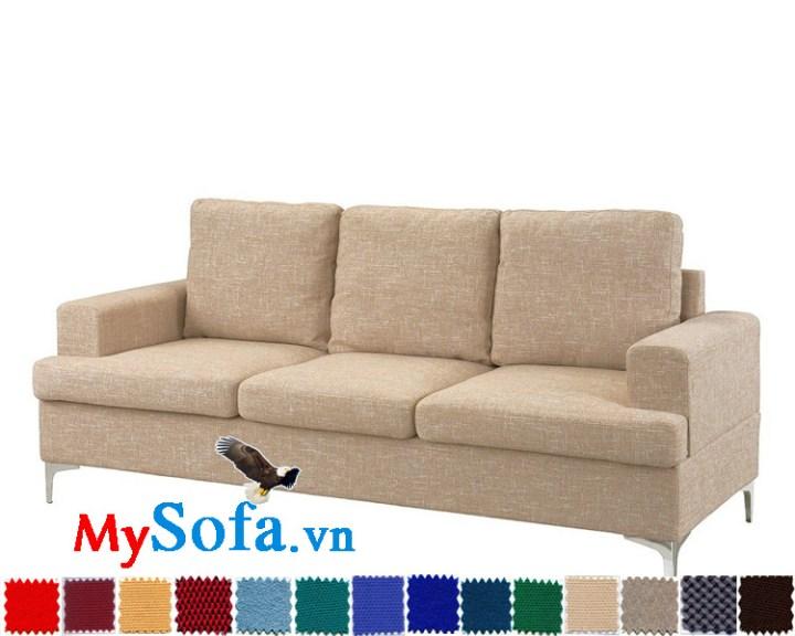 Mẫu sofa văng 3 chỗ chất nỉ cho phòng khách nhỏ MyS-1910694