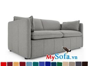 sofa văng chất liệu nỉ màu ghi sang trọng MyS-1910657