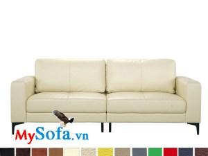 sofa văng da màu trắng sữa tinh tế MyS-1910686