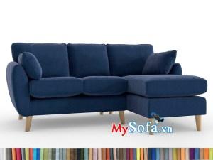 bộ sofa góc chân cao màu xanh Navy MyS-1911688