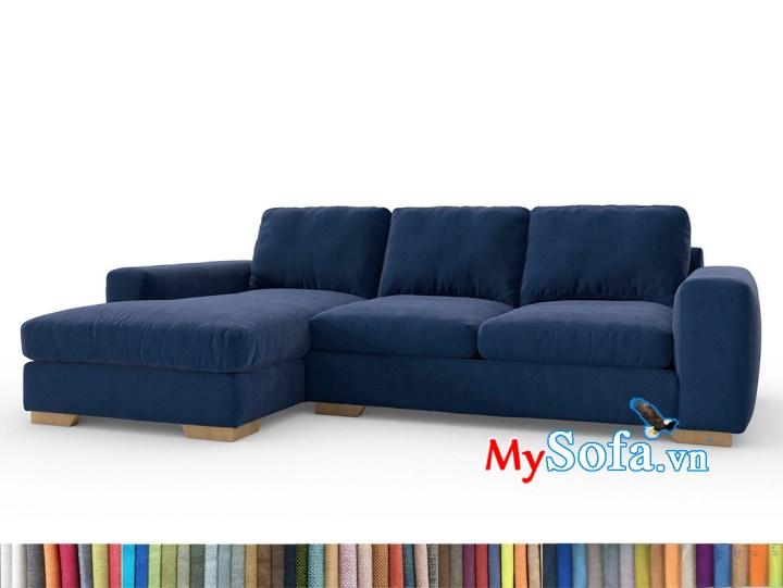 sofa góc chân gỗ thấp màu xanh Navy MyS-1911690