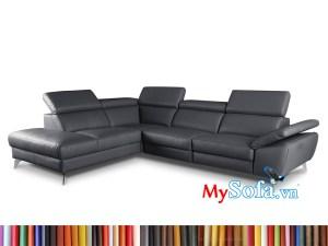 Ghế sofa góc da màu đen MyS-1912528